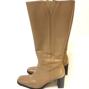 Etienne Aigner Riding Boots Heel Leather Tall